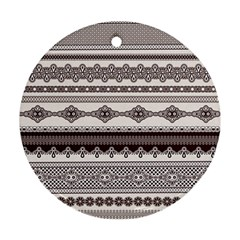 Plaid Circle Polka Dot Star Flower Floral Wave Chevron Triangle Ornament (round) by Mariart