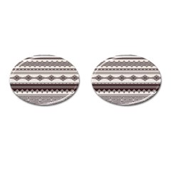 Plaid Circle Polka Dot Star Flower Floral Wave Chevron Triangle Cufflinks (oval) by Mariart