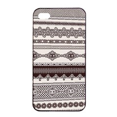 Plaid Circle Polka Dot Star Flower Floral Wave Chevron Triangle Apple Iphone 4/4s Seamless Case (black) by Mariart