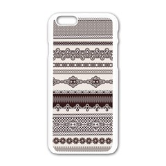 Plaid Circle Polka Dot Star Flower Floral Wave Chevron Triangle Apple Iphone 6/6s White Enamel Case by Mariart