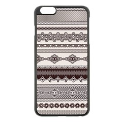 Plaid Circle Polka Dot Star Flower Floral Wave Chevron Triangle Apple Iphone 6 Plus/6s Plus Black Enamel Case by Mariart