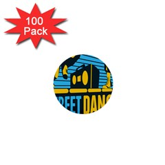 Street Dance R&b Music 1  Mini Buttons (100 Pack)  by Mariart