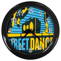 Street Dance R&b Music Wall Clocks (black) by Mariart