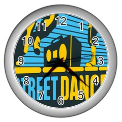 Street Dance R&b Music Wall Clocks (silver)  by Mariart