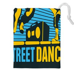 Street Dance R&b Music Drawstring Pouches (xxl) by Mariart