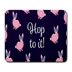 Rabbit Bunny Pink Purple Easter Animals Large Mousepads by Mariart