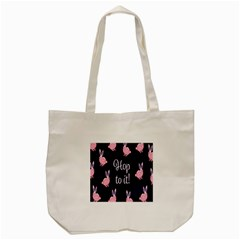 Rabbit Bunny Pink Purple Easter Animals Tote Bag (cream) by Mariart