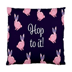 Rabbit Bunny Pink Purple Easter Animals Standard Cushion Case (one Side) by Mariart