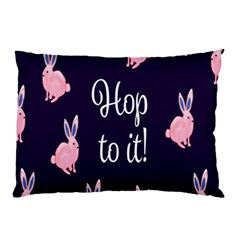 Rabbit Bunny Pink Purple Easter Animals Pillow Case by Mariart