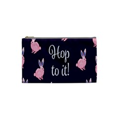 Rabbit Bunny Pink Purple Easter Animals Cosmetic Bag (small)  by Mariart