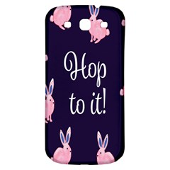 Rabbit Bunny Pink Purple Easter Animals Samsung Galaxy S3 S Iii Classic Hardshell Back Case by Mariart