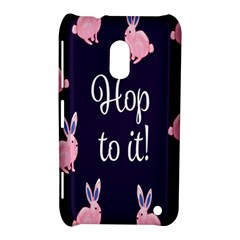 Rabbit Bunny Pink Purple Easter Animals Nokia Lumia 620 by Mariart