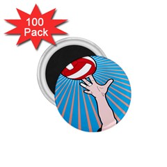 Volly Ball Sport Game Player 1 75  Magnets (100 Pack)  by Mariart