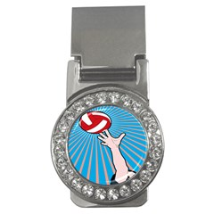Volly Ball Sport Game Player Money Clips (cz)  by Mariart