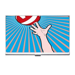 Volly Ball Sport Game Player Business Card Holders by Mariart