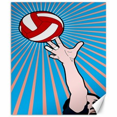 Volly Ball Sport Game Player Canvas 8  X 10  by Mariart