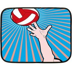 Volly Ball Sport Game Player Double Sided Fleece Blanket (mini)  by Mariart