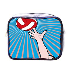 Volly Ball Sport Game Player Mini Toiletries Bags by Mariart