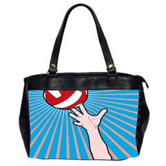 Volly Ball Sport Game Player Office Handbags (2 Sides)  by Mariart