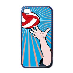 Volly Ball Sport Game Player Apple Iphone 4 Case (black) by Mariart