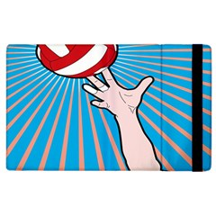 Volly Ball Sport Game Player Apple Ipad 2 Flip Case by Mariart