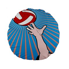 Volly Ball Sport Game Player Standard 15  Premium Round Cushions by Mariart