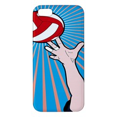 Volly Ball Sport Game Player Apple Iphone 5 Premium Hardshell Case by Mariart