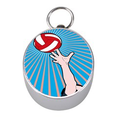 Volly Ball Sport Game Player Mini Silver Compasses by Mariart