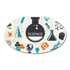 Science Chemistry Physics Oval Magnet by Mariart