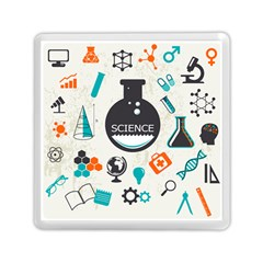 Science Chemistry Physics Memory Card Reader (square)  by Mariart