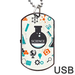 Science Chemistry Physics Dog Tag Usb Flash (one Side) by Mariart
