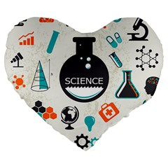 Science Chemistry Physics Large 19  Premium Heart Shape Cushions by Mariart