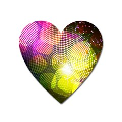 Plaid Star Light Color Rainbow Yellow Purple Pink Gold Blue Heart Magnet by Mariart