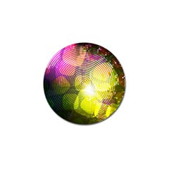 Plaid Star Light Color Rainbow Yellow Purple Pink Gold Blue Golf Ball Marker by Mariart