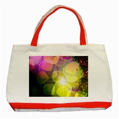 Plaid Star Light Color Rainbow Yellow Purple Pink Gold Blue Classic Tote Bag (red) by Mariart