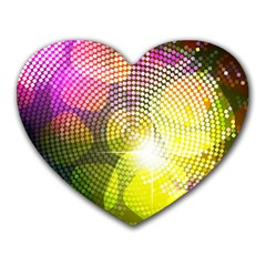 Plaid Star Light Color Rainbow Yellow Purple Pink Gold Blue Heart Mousepads by Mariart