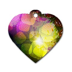 Plaid Star Light Color Rainbow Yellow Purple Pink Gold Blue Dog Tag Heart (one Side) by Mariart