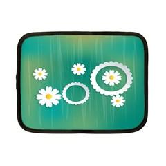 Sunflower Sakura Flower Floral Circle Green Netbook Case (small)  by Mariart