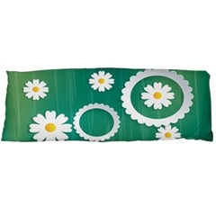 Sunflower Sakura Flower Floral Circle Green Body Pillow Case Dakimakura (two Sides) by Mariart