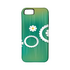 Sunflower Sakura Flower Floral Circle Green Apple Iphone 5 Classic Hardshell Case (pc+silicone) by Mariart