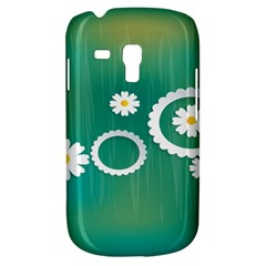 Sunflower Sakura Flower Floral Circle Green Galaxy S3 Mini by Mariart