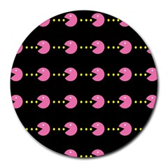 Wallpaper Pacman Texture Bright Surface Round Mousepads by Mariart