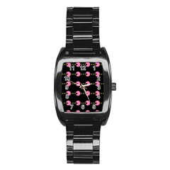 Wallpaper Pacman Texture Bright Surface Stainless Steel Barrel Watch by Mariart