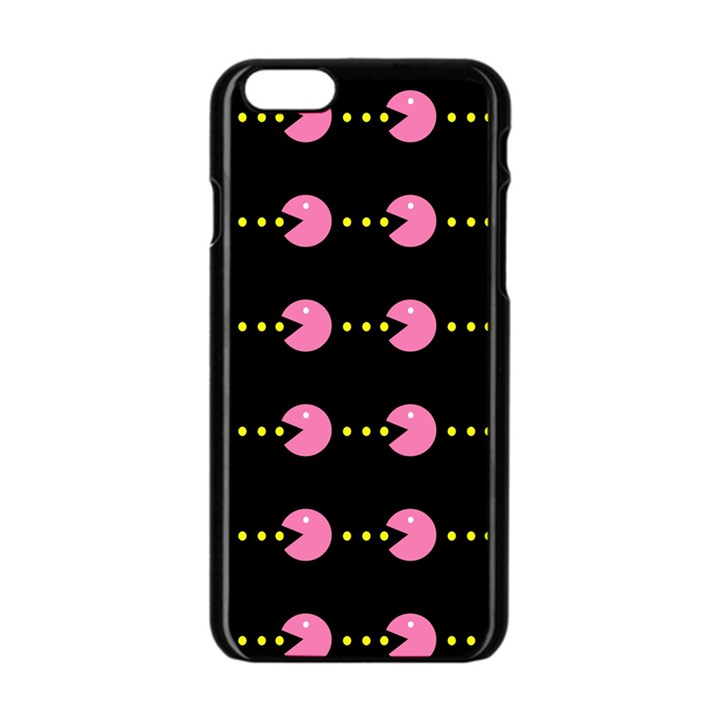 Wallpaper Pacman Texture Bright Surface Apple iPhone 6/6S Black Enamel Case