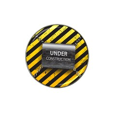 Under Construction Sign Iron Line Black Yellow Cross Hat Clip Ball Marker by Mariart