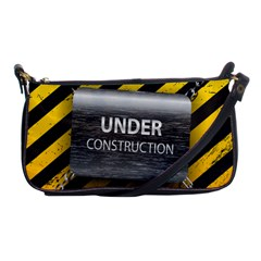 Under Construction Sign Iron Line Black Yellow Cross Shoulder Clutch Bags by Mariart