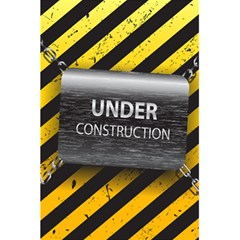 Under Construction Sign Iron Line Black Yellow Cross 5 5  X 8 5  Notebooks by Mariart