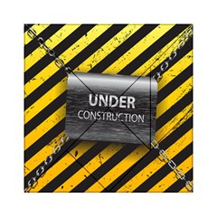 Under Construction Sign Iron Line Black Yellow Cross Acrylic Tangram Puzzle (6  X 6 ) by Mariart
