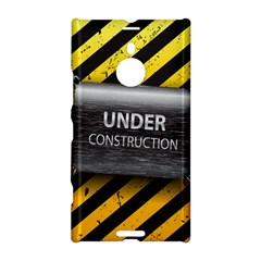 Under Construction Sign Iron Line Black Yellow Cross Nokia Lumia 1520 by Mariart