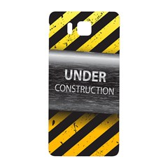 Under Construction Sign Iron Line Black Yellow Cross Samsung Galaxy Alpha Hardshell Back Case by Mariart